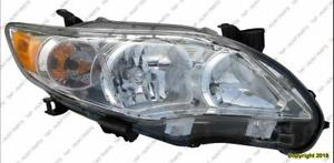 Head Lamp Passenger Side Base/Ce/Le/Xle Models Usa High Quality Toyota Corolla 2011-2013