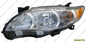 Head Lamp Driver Side Base/Ce/Le/Xle Models Usa  Toyota Corolla 2011-2013