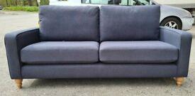 Brand New Next Lingard Large Sofa (3 Seats) Tweedy Blend Dark Navy