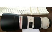 Canon 70 - 200 mm f4 L - IS- Mint condition