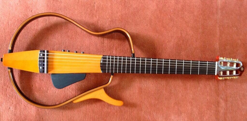 Yamaha slg130nw nylon string electric silent guitar in for Yamaha silent guitar slg130nw