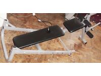 Exercise weight lifting bench