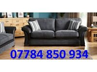HIGH 3+2 FULL BACK CUSHION DFS SOFA + DELIVERY
