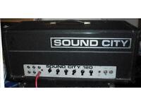 Sound City 120 70s vintage valve bass amplifier guitar amp EL34 SC120 tube B120 L120