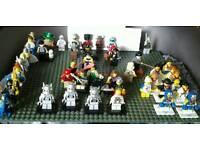 Rare lego team gb and series 1+ mini figures bundle £200