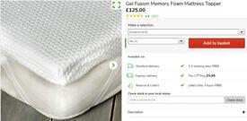 Gel Fusion Memory Foam Mattress Topper - barely used