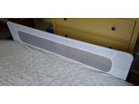 safetots bed fence white - full length, metal frame