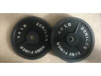 Olympic weight plate 2x 20kg