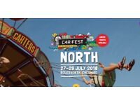 CARFEST NORTH *FAMILY WEEKEND TICKET inc.CAMPING - 2 X ADULT, 2 X CHILD**