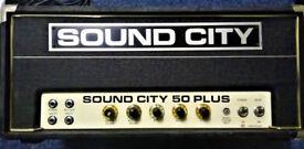 Sound City 50 Plus Mark 4 Vintage Valve Guitar Amplifier - 1975. £645.00 (Offers considered)