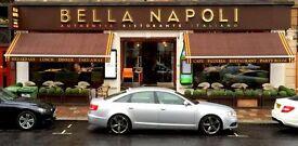 SUPERVISOR / HEAD WAITER FOR BELLA NAPOLI, GLASGOW