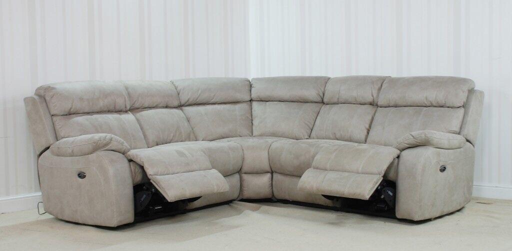 Designer Fabric grey Sofa (42) £1199