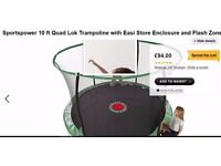 10 ft Trampoline with Enclosure brand new boxed