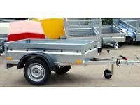 Box trailer 5x4 single axle 750kg + cover