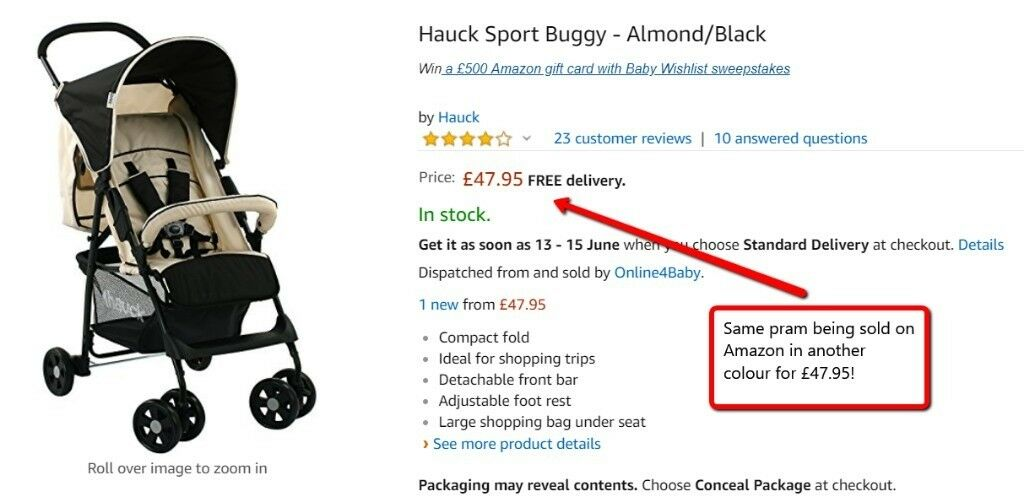 Hauck Sport Buggy Almond//Black