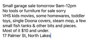 Garage sale north lakes North Lakes Pine Rivers Area Preview
