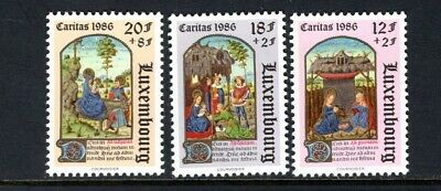 Luxembourg 1986 CHRISTMAS ANGEL APPEARS TO SHEPHERDS  Sc B357-61 MNH ()