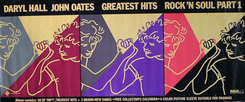 Hall & Oates 1983 Rock 'N Soul Part 1 Greatest Hits Original Promo Poster