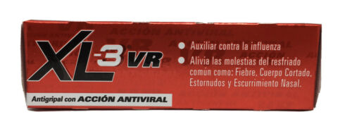 XL-3 Xtra VR Cold & Cough MEXICANO  Medicine Antigripal Antiviral 24 Caps 1