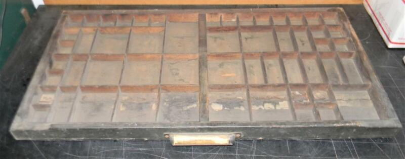 Flint, MI  Letterpress Hamilton Copy Text Print Type Drawer Shadowbox  CA17 12#