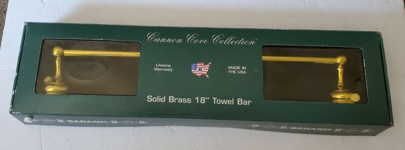 """BARAND Cannon Cove Collection SOLID BRASS 18"""" TOWEL BAR"""