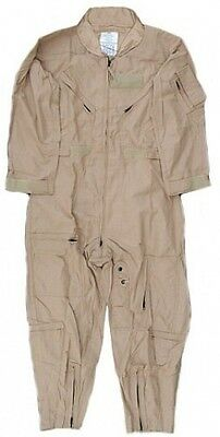 NOMEX US Military Flight Suit CWU-27/P Flyers Tan Coveralls 50 R Regular