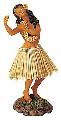 New Hawaiian Hawaii Dashboard Hula Doll Dancer Girl Dancing Natural # 40626