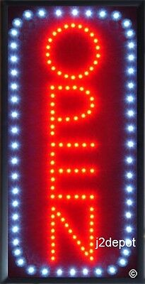 Us Seller Vertical All Letters Animated Led Open Sign Onoff Switchchain 19x10