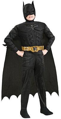 Deluxe Batman Kostüm Muscle Chest für Kinder NEU - Jungen Karneval Fasching Verk (Kinder Batman Kostüm Deluxe)