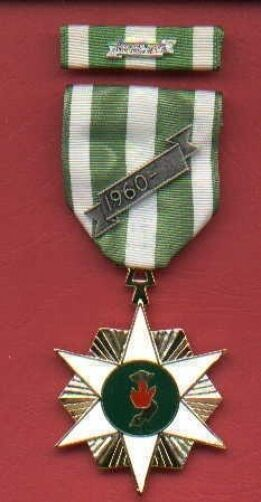 Vietnam Campaign full size Award RVN medal with ribbon bar 60 device