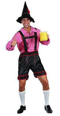 Herren Deutsche Bier Fest Bayrisch Oktoberfest Lederhosen Kostüm Outfit 3 Tlg