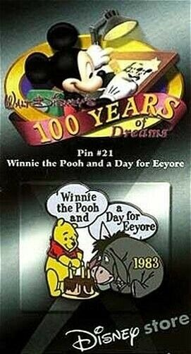 LE Disney pin 100 Years of Dreams Winnie the Pooh A Day for Eeyore Birthday 1983
