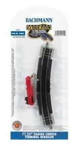 Bachmann-N-44802-11-25-Radius-Curved-Terminal-Rerailer-E-Z-Track-N-Scale