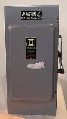 Used Square D Hu364 3p200a600v4 Wire Non-fused Safety Switch