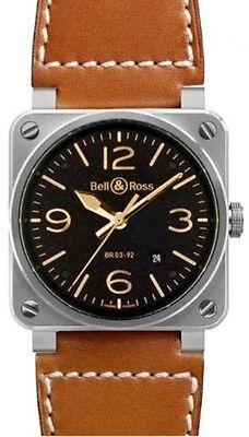 BR-03-92-GOLDEN-HERITAGE | BRAND NEW BELL & ROSS AVIATION MEN'S AUTOMATIC WATCH