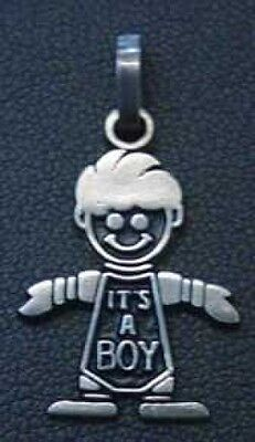 LOOK Charm Baby Pendant its a boy Silver gifts Jewelry Love Baby Boy Jewelry