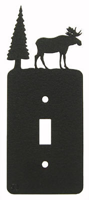 Moose black metal single light switch plate cover Moose Single Switchplate