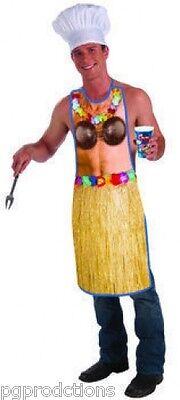 Funny HAWAIIAN LUAU APRON Coconut Bra Adult Cookout BBQ Party Joke Skirt - Hawaiian Bra