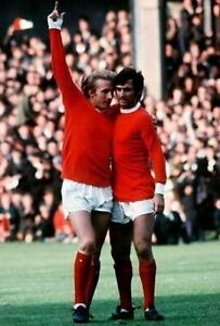 George-Best-Dennis-Law-Manchester-United-10x8-Photo