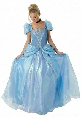 e Disney Cinderella Full Length Fancy Dress Costume Outfit (Premium Fancy Dress)