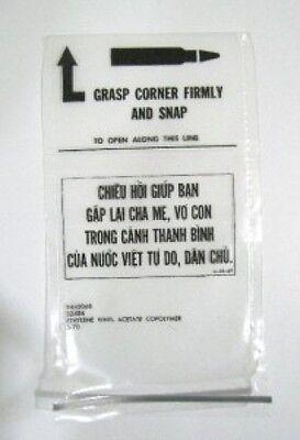 US ARMY Vietnam War Chieu Hoi Surrender Pass Pouch Bag Authentic Collector Piece