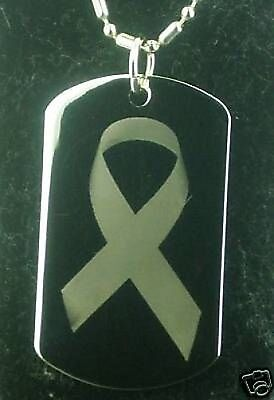 BREAST CANCER Dog tag Pendant Necklace Breast Cancer Dog Tag