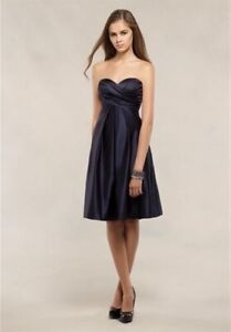 bddd62734cd Bill Levkoff dark grey cocktail bridesmaid dress