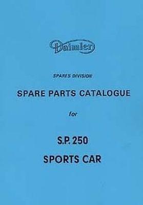 DAIMLER Dart SP250 1964 Parts Manual Book Catalogue paper