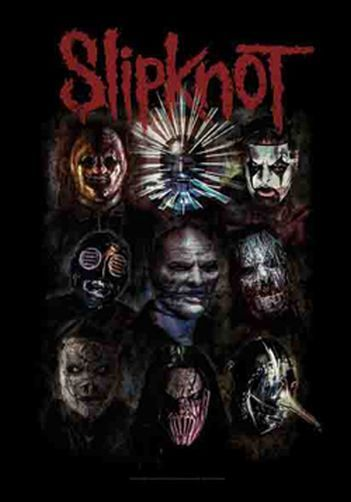 SLIPKNOT - FACES - FABRIC POSTER - 30x40 WALL HANGING 1173