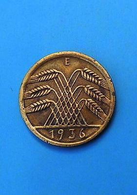 WEIMARER REPUBLIK 5 REICHSPFENNIG 1936 E