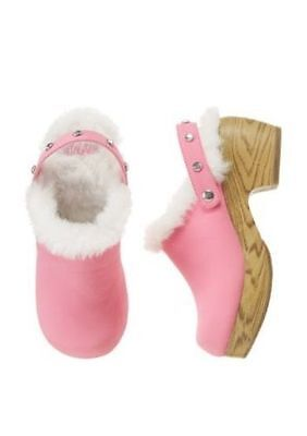 Pink Fairy Schuhe (Gymboree Fairy Wishes Pink Faux Suede Fur Lined Clogs * Sz 10 * NWT)