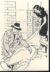 TED-BENOIT-meurtre-bouteille-de-champagne-cigarette-carte-postale-cp-postcard