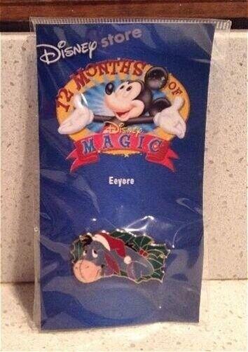 HTF OLD Disney Pin 12 Months of Magic - Christmas Wreath  Santa Hat Eeyore