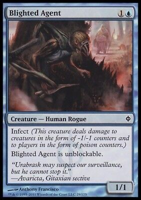MTG 4x BLIGHTED AGENT - New Phyrexia *Human Infect*